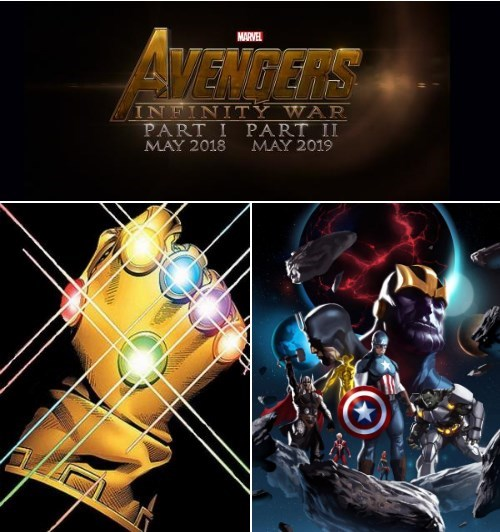 Graphic design - MARVEL AVENGERS INFINITY WAR PART I PART II MAY 2018 MAY 2019