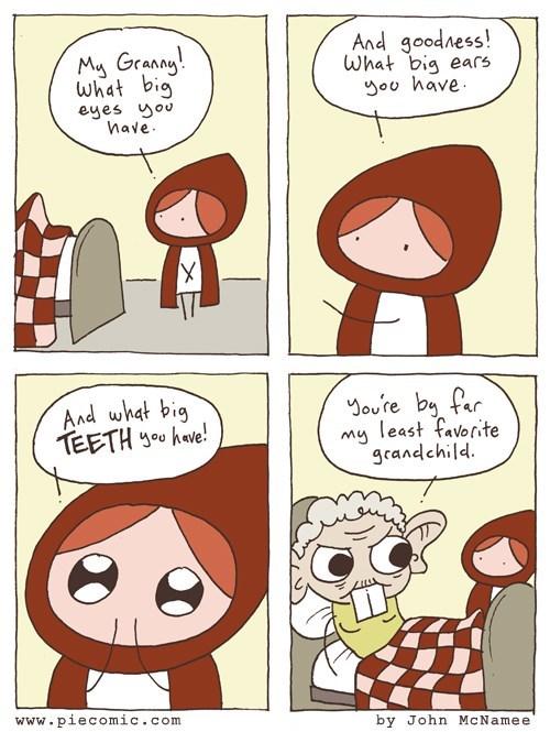 Little Red Riding Hood grandma web comics - 8362089984