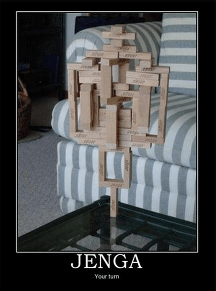 wtf cheating jenga funny - 8362145280