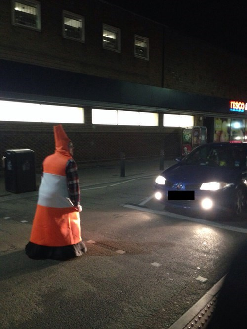 costume traffic cone poorly dressed - 8362281984
