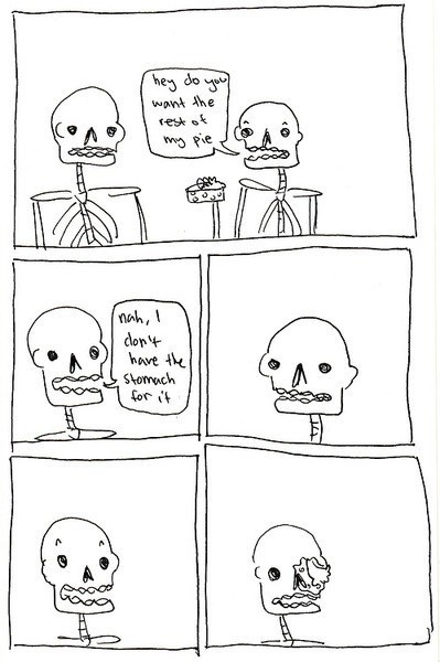 puns,pie,skeletons,web comics