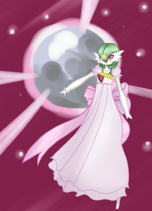 Fan Art halloween sailor moon gardevoir - 8362402048