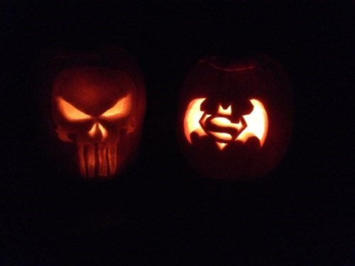 the punisher pumpkins halloween superman - 8362461440