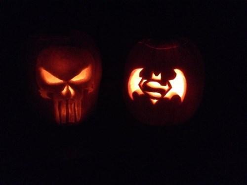 the punisher pumpkins halloween superman - 8362461440