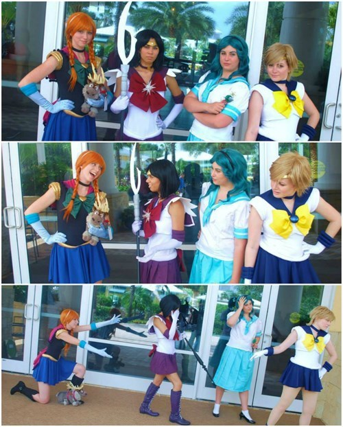 crossover cosplay anime sailor moon frozen