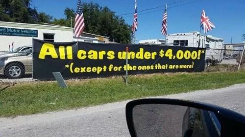monday thru friday asterisk sign cars - 8362948864
