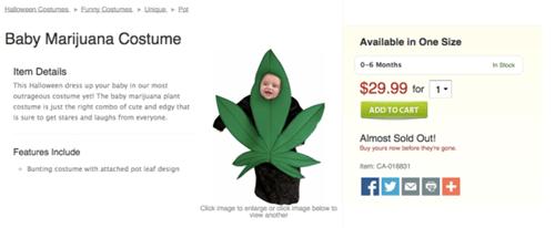 Babies halloween costumes marijuana halloween parenting weed - 8362959616