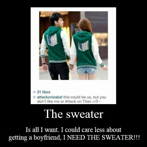 jacket sweater attack on titan funny - 8363010048