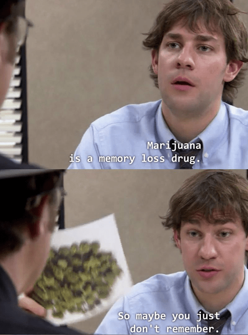 memory drugs the office weed