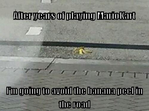banana peels Mario Kart bananas video games - 8363060480