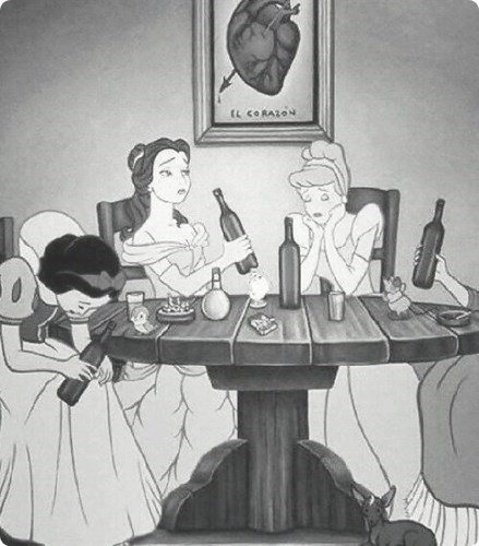 beer drunk disney princesses funny - 8363071488