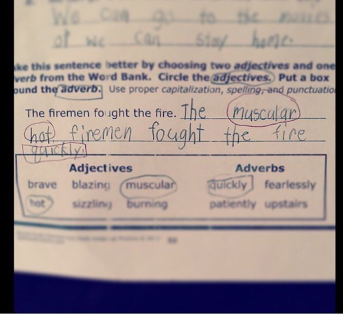 homework fireman sexy men funny g rated School of FAIL