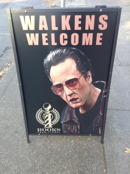 monday thru friday,sign,puns,christopher walken