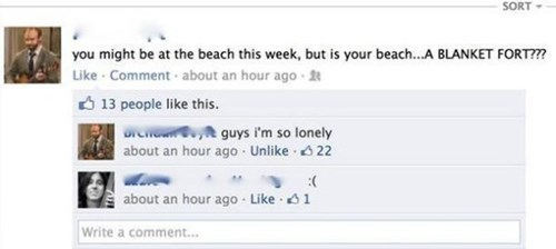 forever alone facebook beaches - 8363147008