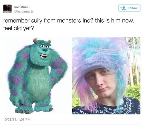 twitter monsters inc go cry emo kid - 8363279360