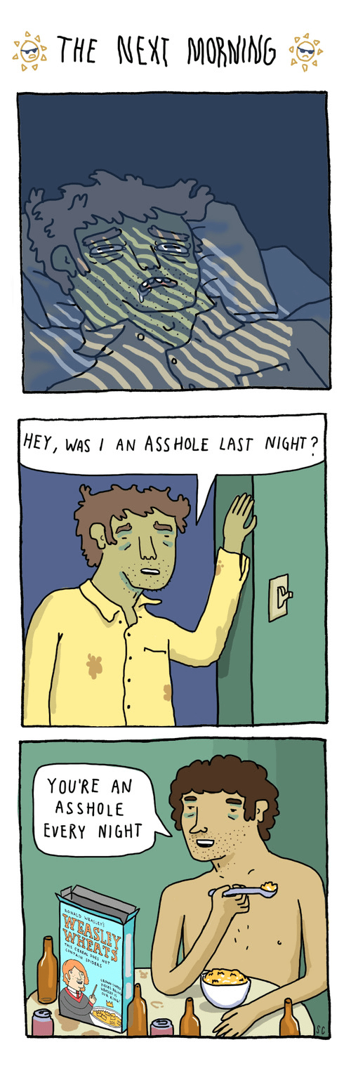 drunk sad but true hangover web comics