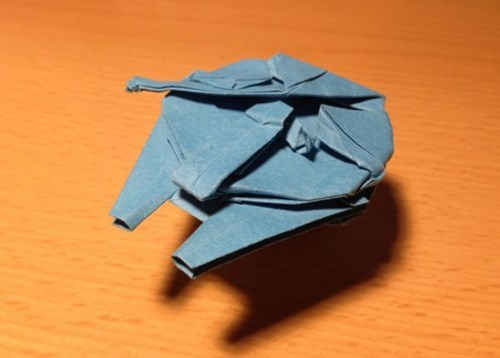 star wars,origami,nerdgasm,millennium falcon