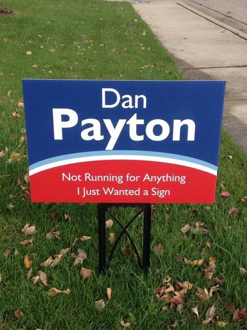 sign advertisement politics g rated win - 8363331584