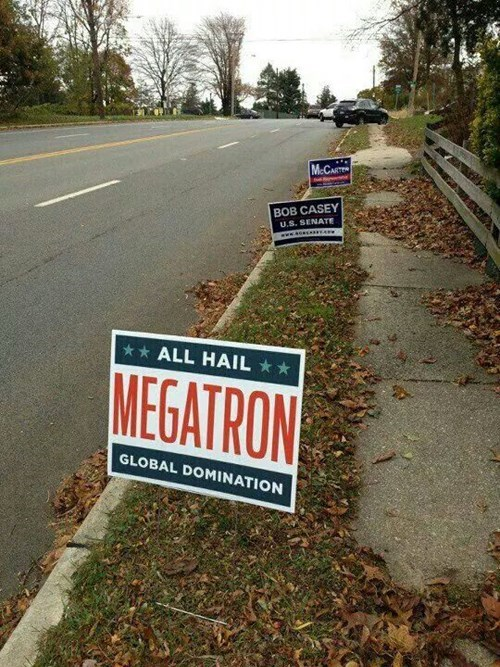 transformers sign megatron politics g rated win