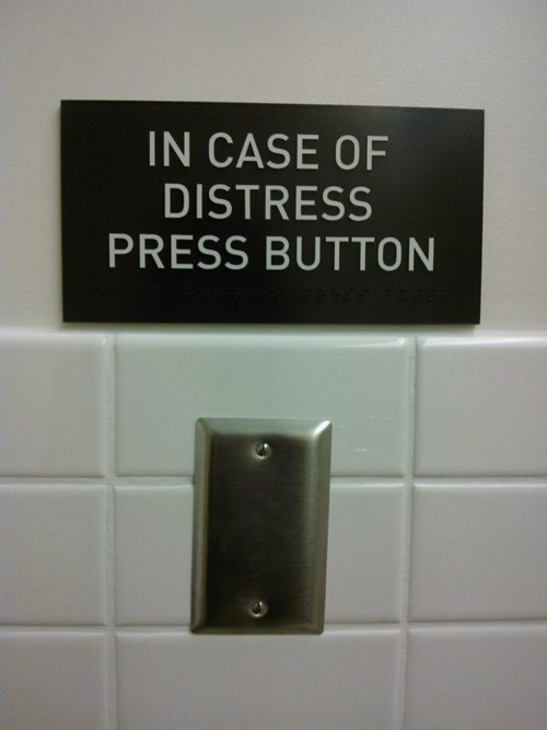 press button