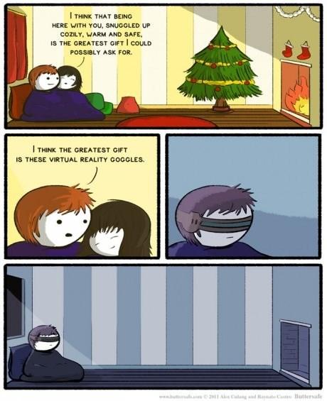 virtual reality sad but true love web comics - 8364047872