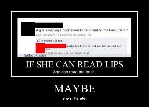 books idiots illiterate funny - 8364126208