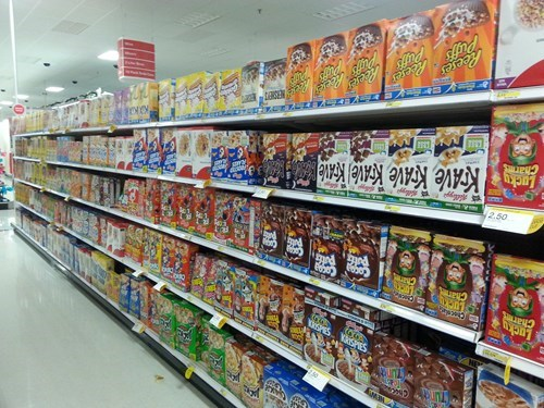 cereal grocery store monday thru friday upside down g rated - 8364206592