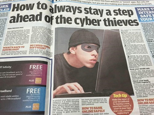 newspapers,cyber thieves