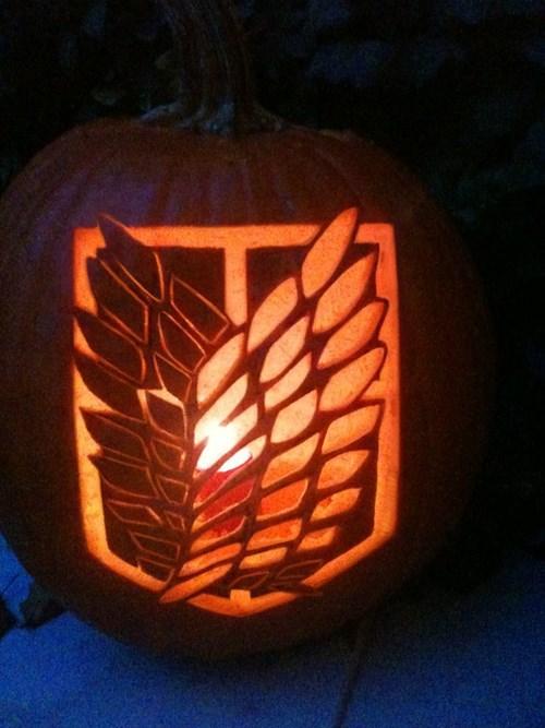 anime jack o lanterns halloween pumpkins attack on titan - 8364284160