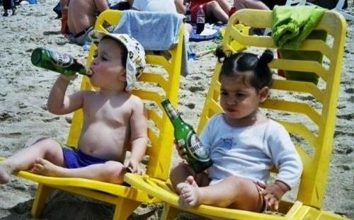 beer beach kids funny - 8364306688