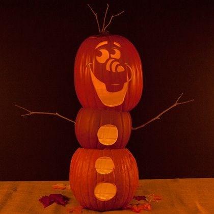 jack o lanterns,frozen,halloween,pumpkins,olaf
