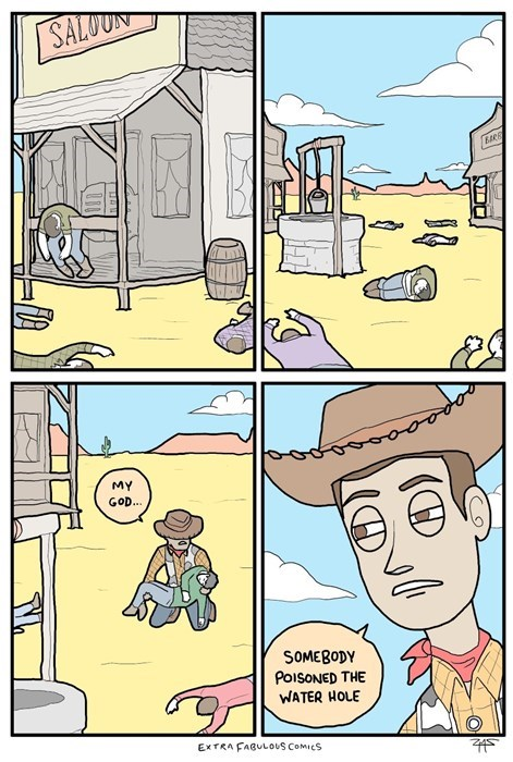 sad but true toy story woody web comics - 8364344320