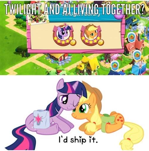 applejack twilight sparkle ship - 8364432128