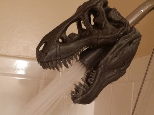 3D printing,shower,dinosaurs,g rated,win