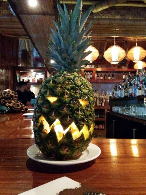 halloween pineapple carving fruit - 8364451072
