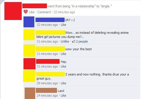 drama anime relationships Overshare breakup failbook - 8364467712