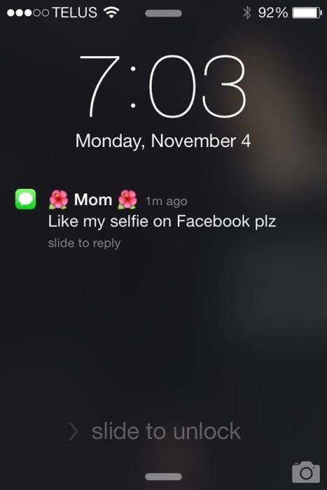 kids text parenting facebook selfie mom - 8365148672