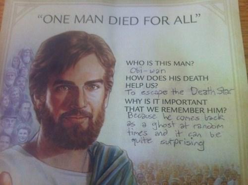 jesus,obi-wan kenobi,star wars,jesus christ