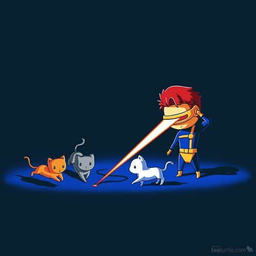 tshirts laser pointer cyclops Cats - 8365290496