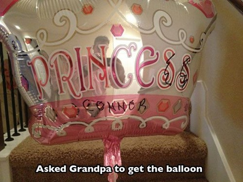 princess Balloons Close Enough