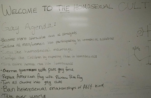 homosexual agenda whiteboard funny dating - 8365392896
