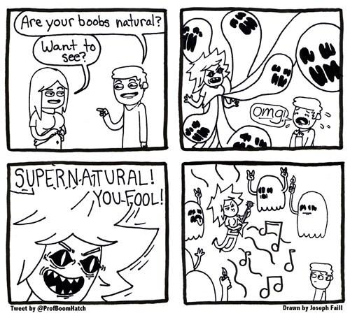 puns ghosts Supernatural mammaries web comics