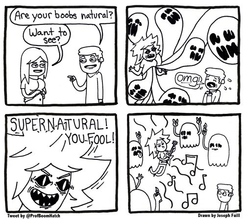 puns ghosts Supernatural mammaries web comics - 8365429248