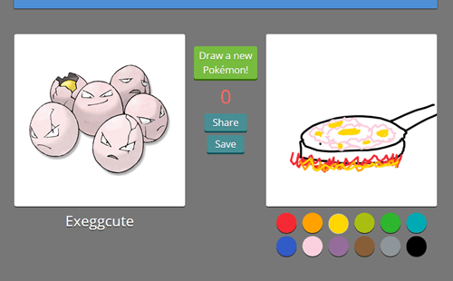 Pokémon pokedraw exeggcute - 8365467648