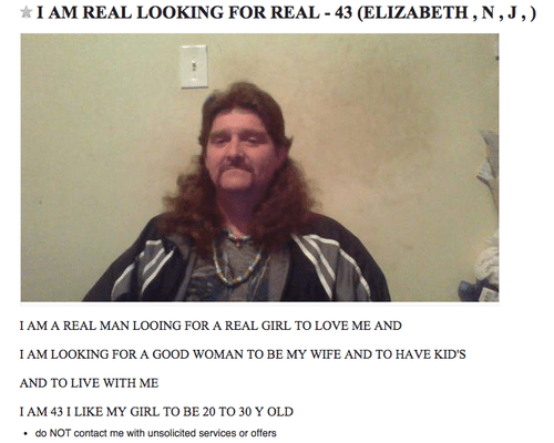craigslist,wtf,mullet,funny,dating