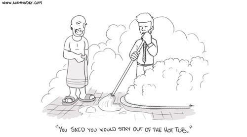 web comics hot tubs mr clean
