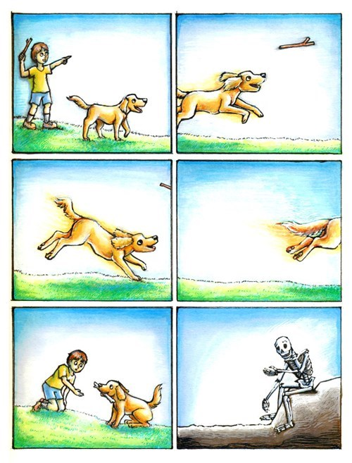 fetch dogs skeleton web comics - 8365508352