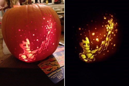 Groot Makes The Best Jack-o-Lantern