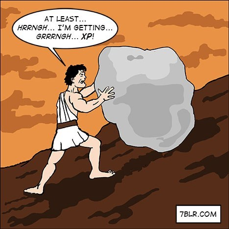sad but true sisyphus video games web comics