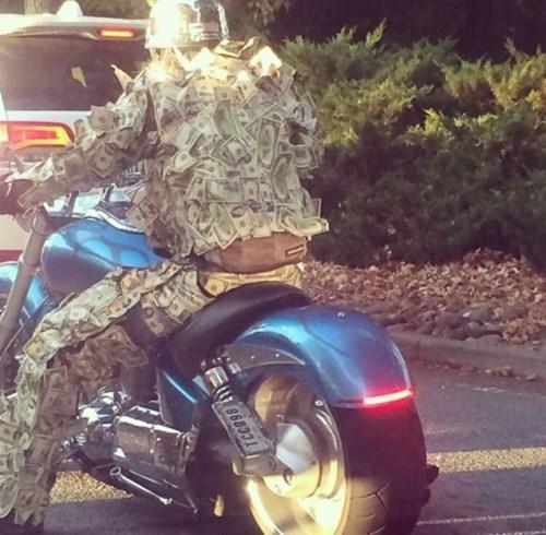 cash poorly dressed motorcycle money - 8365528832